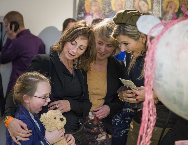 Koningin Máxima, Cindy en Lisette en Karin Fleur van de Cultuurkantine